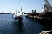 Спуск самолета АН-24 на воду. Эксклюзивное видео!