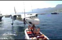 Затоплен настоящий самолёт АН-24! Невероятное зрелище! (видео)