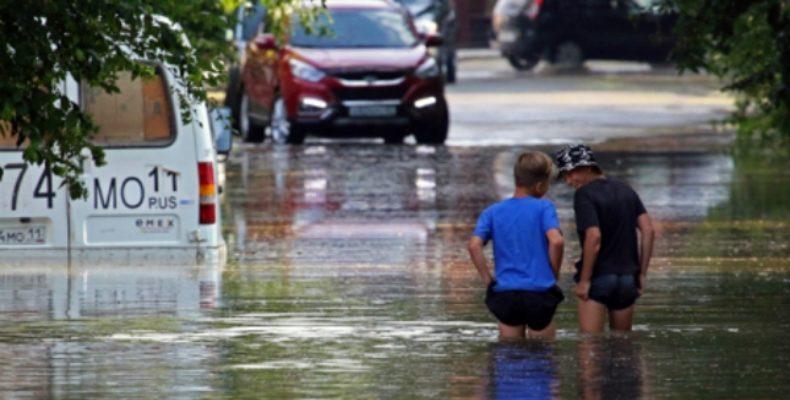 Потоп в Ялте: фото и видео