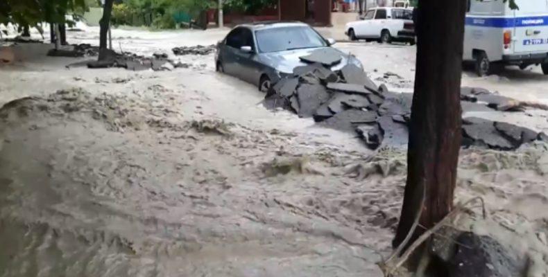 Потоп: утро в Туапсе (видео)