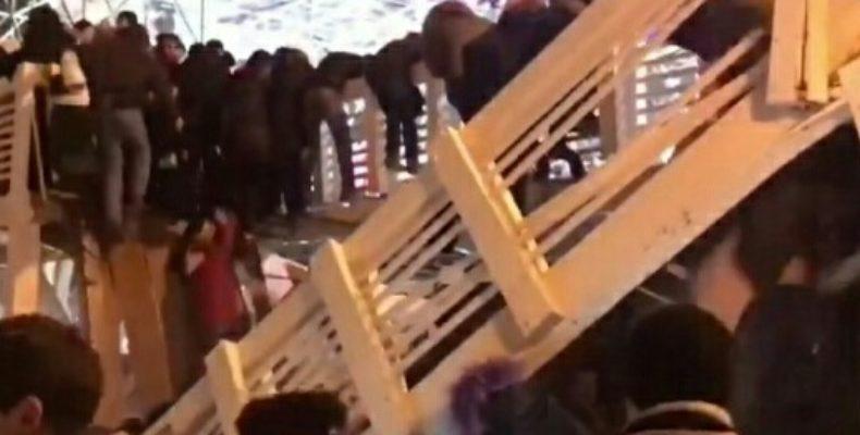 Москва: в Парке Горького обрушился мост с людьми (видео)