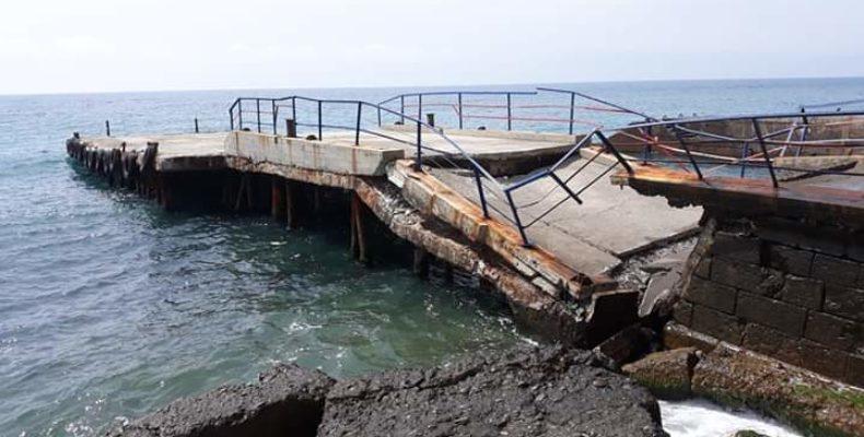 Мисхор: причал рухнул в море