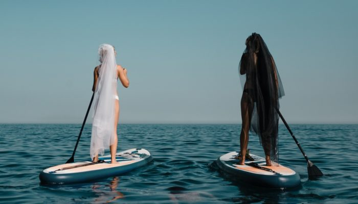 SUP. Невесты. Море